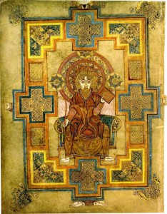 Portrait of John from the Book of Kells, c. 800 CE