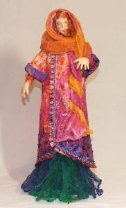 Cloth figure made by Beth Ann in online class with Angela Jarecki